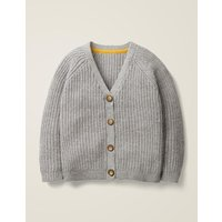 Chunky Knit Cardigan Grey Girls Boden, Grey