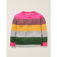 Textured Knit Jumper Multi Girls Boden, Multicouloured