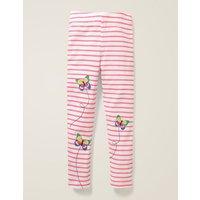 Applique Leggings Pink Girls Boden, Ivory