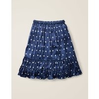 Johnnie B Printed Ruffle Midi Skirt Blue Girls Boden, Blue