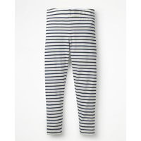 Stripe & Spot Leggings Navy Girls Boden, Navy