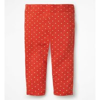 Stripe & Spot Cropped Leggings Red Girls Boden, Red