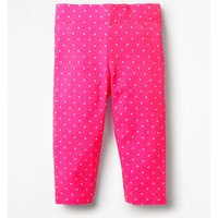 Stripe & Spot Cropped Leggings Pink Girls Boden, Pink