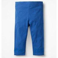 Broderie Cropped Leggings Blue Girls Boden, Blue