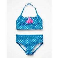 Tassel Bikini Set Blue Girls Boden, Blue