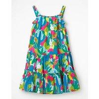 Twirly Woven Dress Multi Girls Boden, Multicouloured