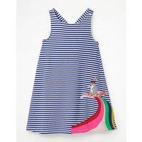 Cross-back Appliqué Dress Blue Girls Boden, Blue