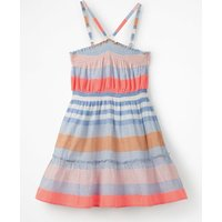Johnnie B Strappy Smocked Midi Dress Multi Girls Boden, Blue