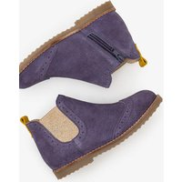 Leather Chelsea Boots Purple Girls Boden, Grey