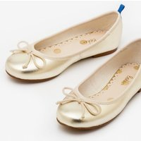 Ballet Flats Gold Girls Boden, Gold