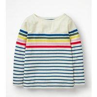 Breton T-shirt Multi Girls Boden, Multicouloured