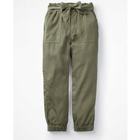 Johnnie B Tie-waist Trousers Green Girls Boden, Khaki