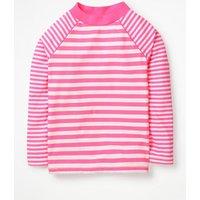 Long-sleeved Rash Vest Pink Girls Boden, Coral