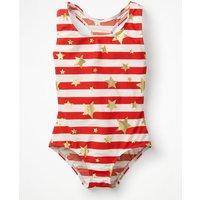 Racer-back Swimsuit Red Girls Boden, Gold