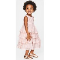 Tiered Lace Trim Dress Pink Girls Boden, Pink