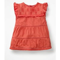 Tropical Broderie Top Orange Girls Boden, Coral