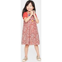 T-Shirt and Printed Dress Set Orange Girls Boden, Coral