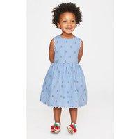 Scallop Edge Vintage Dress Blue Girls Boden, Blue
