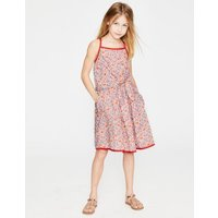 Tie-front Dress Pink Girls Boden, Pink