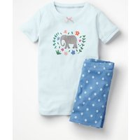 Fun Short John Pyjamas Blue Girls Boden, Blue