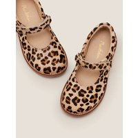 Leather Mary Janes Brown Girls Boden, Leopard