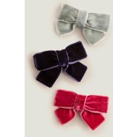 3 Pack Hair Clips Multi Girls Boden, Multicouloured