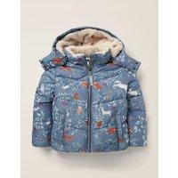 Cosy Padded Jacket Blue Girls Boden, Blue