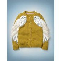 Hedwig Cardigan Yellow Girls Boden, yellow