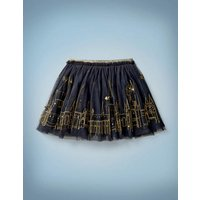 Hogwarts Embroidered Skirt Blue Girls Boden, Blue