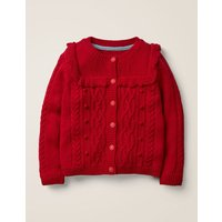 Cable Cardigan Red Girls Boden, Red