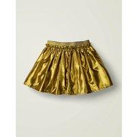 Metallic Party Skirt Gold Girls Boden, Gold
