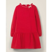 Cosy Bow Dress Red Girls Boden, Red