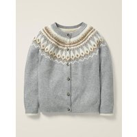 Fair Isle Cardigan Grey Girls Boden, Grey