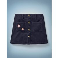 Harry Pocket Cord Skirt Navy Girls Boden, Navy