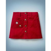 Harry Pocket Cord Skirt Red Girls Boden, Red