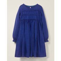Everyday Ruffle Dress Blue Girls Boden, Blue
