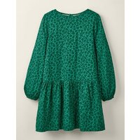 Johnnie B Ruffle Woven Dress Green Girls Boden, Green