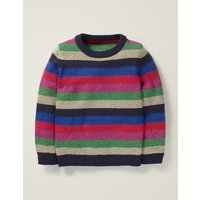 Cosy Christmas Day Jumper Multi Girls Boden, Pink