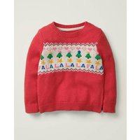Cosy Christmas Day Jumper Red Christmas Boden, Red
