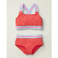 Johnnie B Textured Bikini Set Red Girls Boden, Red