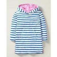 Stripy Towelling Beach Dress Blue Girls Boden, Blue