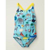 Natural World Swimsuit Blue Girls Boden, Blue