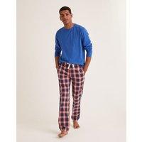 Cotton Poplin Pyjama Bottoms Blue Men Boden