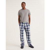 Cotton Poplin Pyjama Bottoms Navy Men Boden