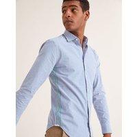 Slim Fit Poplin Pattern Shirt Blue Men Boden, Green