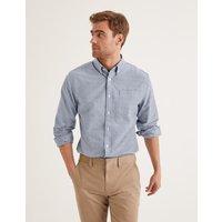 Boden Oxford Patterned Shirt Blue Men Boden, Blue