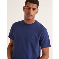 Jersey Interest T-shirt Navy Men Boden, Navy