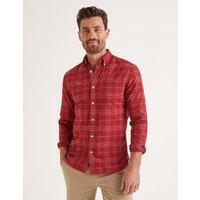 Slim Fit Overdye Shirt Red Men Boden, Red