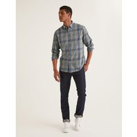 Casual Twill Shirt Green Men Boden, Multicouloured