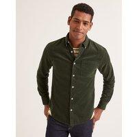 Cord Shirt Green Men Boden, Green